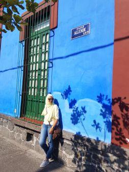 Outside Frida Kahlo Museo, Coyoacan