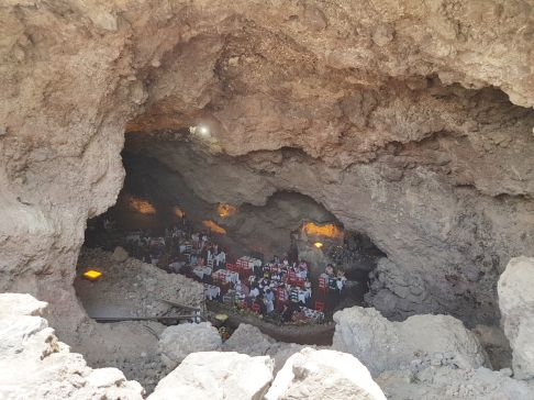 Lunch in a cave, Teotihuacan