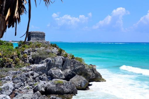 Most stunning shades of blue - Tulum Ruins