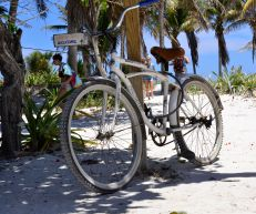 My obsession with bicycles - Tulum Beach