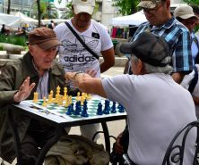 Heated game of chess - Centro Historico