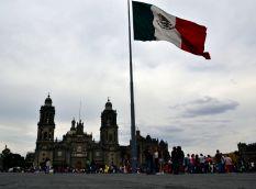 Mexican Flag flying high - Zocalo, Centro Historico