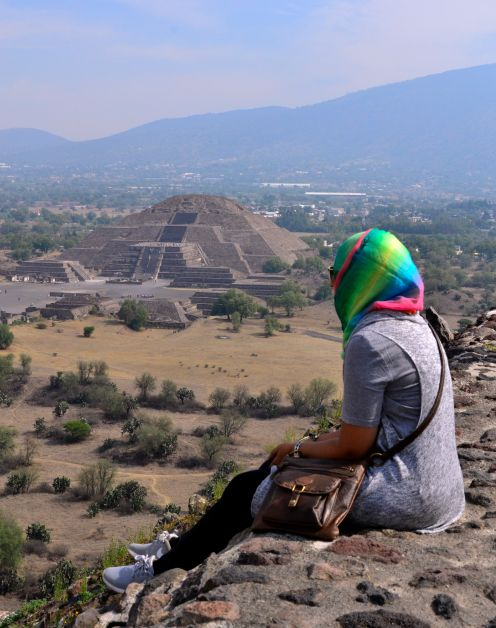 View from Pyramid of the Sun, Teotihuacan