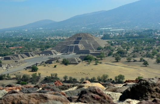 View of Pyramid of the moon, Teotihuacan