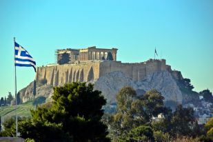 Athens, Parthenon from below