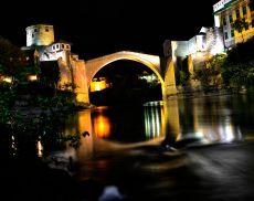 Stari Most at night